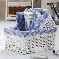 Set of 4 pieces of Wicker Storage Baskets