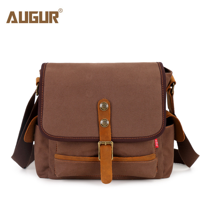AUGUR Brand Men's Messanger Bags Casual Travel Bag  High Quality Canvas Shoulder Bags Male Army Military Crossbody Tote Bag augur 2017 canvas leather crossbody bag men military army vintage messenger bags shoulder bag casual travel school bags