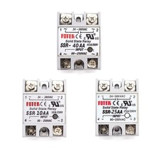 Solid State Relay 12v 24v SSR-10AA SSR-25AA SSR-40AA 10A 25A 40A 3-32V AC TO 24-380V AC SSR 10AA 25AA 40AA Rele Power Supply