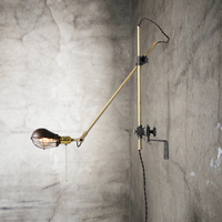 Retro industry wall lamp antique old folding wall lamp