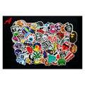 100 pcs Misturado engraçado bater adesivos 6 tipos para as crianças decoração de casa no laptop decal frigorífico skate rabisco adesivos de Natal brinquedos