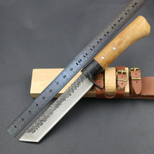 Free Fast Shipping New High-carbon Steel Handmade Forged Damascus Hunting Fixed Knife