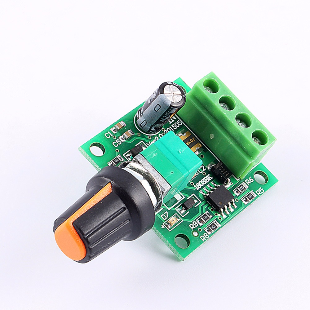 Earnest Dc 10-60v Motor Speed Control Regulator Pwm Motor Speed Controller Switch Board 20a Current Regulator High Power Drive Module Active Components