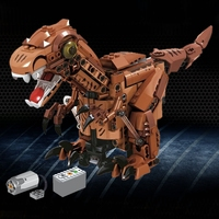 Legoing Technic 424pcs Remote Control RC Jurassic Tyrannosaurus Rex T rex Dinosaurs Animals Electric Technic Building Blocks Toy