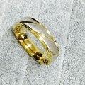 2017 модные Аксессуары Простой Золотое обручальное кольцо для мужчин и женщин кольцо из нержавеющей стали