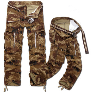 Image 3 - New Fashion Men Casual Military Cargo Pants Camo Combat Loose Straight Long Baggy camouflage Trousers Plus Size