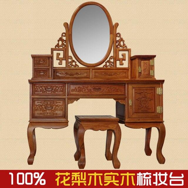 US $11600.0 |Aliexpress.com : Afrikanisches rosenholz mahagoni  möbel/Myanmar blume/holz schlafzimmer kommode schminktisch Chinesische  möbel von ...