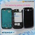Nova testado substituição para samsung galaxy s3 i9300 tampa da caixa completa reparação acessórios 1 peça frete grátis blue & white