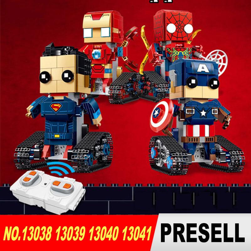 Marvel Superman Movable Robot captain Remote Control Robot Super heroes Blocks Bricks ironman Educational Toys Spiderman RC toy