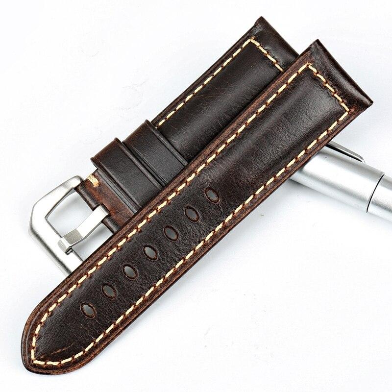 MAIKES pulseira de relógio marrom Do Vintage 22 23 24 26mm pulseira - Acessórios para relógios - Foto 2