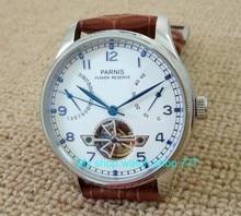 43mm Parnis Automatique Auto-Vent mouvement Mécanique Puissance Réserve Mécanique montres Hommes de montres en gros x00036
