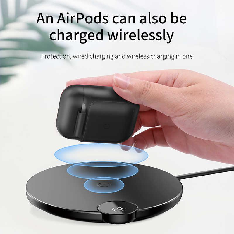 Baseus bezprzewodowy odbiornik ładowania dla AirPods TPU silikon Ultra cienka obudowa dla Apple Airpods stojak do bezprzewodowego ładowania