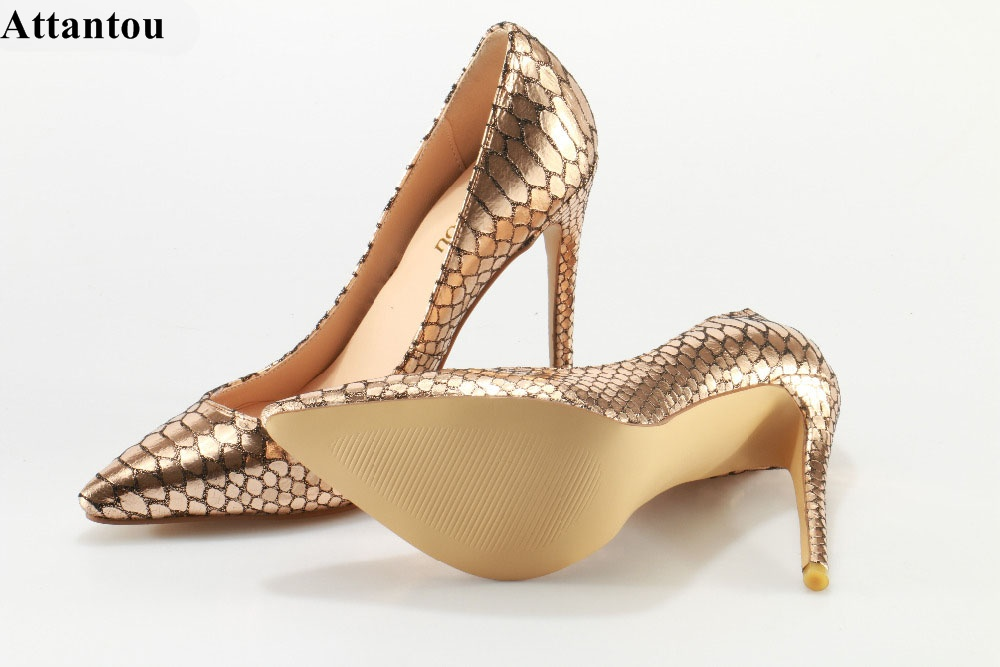 2017 Woman High Heels Pumps Stiletto Thin Heel Women's Shoes Pointed Toe Snake Skin High Heels Wedding Shoes size 35-42 aidocrystal shoes woman high heels women pumps stiletto thin heel women s shoes pointed toe high heels wedding shoes size 35 42