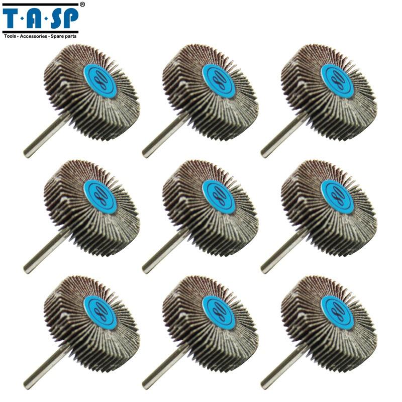 TASP 9pcs disque de ponçage de roue à lamelles abrasives - Outils abrasifs - Photo 1