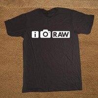 Brand Clothing I Shoot RAW Funny Photo Photographer Camera T Shirt Tshirt Men Cotton Short Sleeve