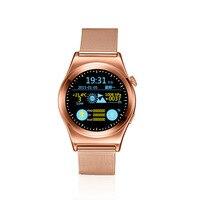 Full HD круглый bluetooth Умные Часы сердечного ритма Мониторы SmartWatch для Android iso Samsung телефон смарт часы Носимых устройств