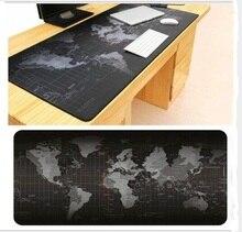 Супер большой 1000×500 мм/900×40 мм/700×300 мм/600×300 мм мира Географические карты резиновый коврик для мыши компьютер игры Tablet коврик для мыши с края замок