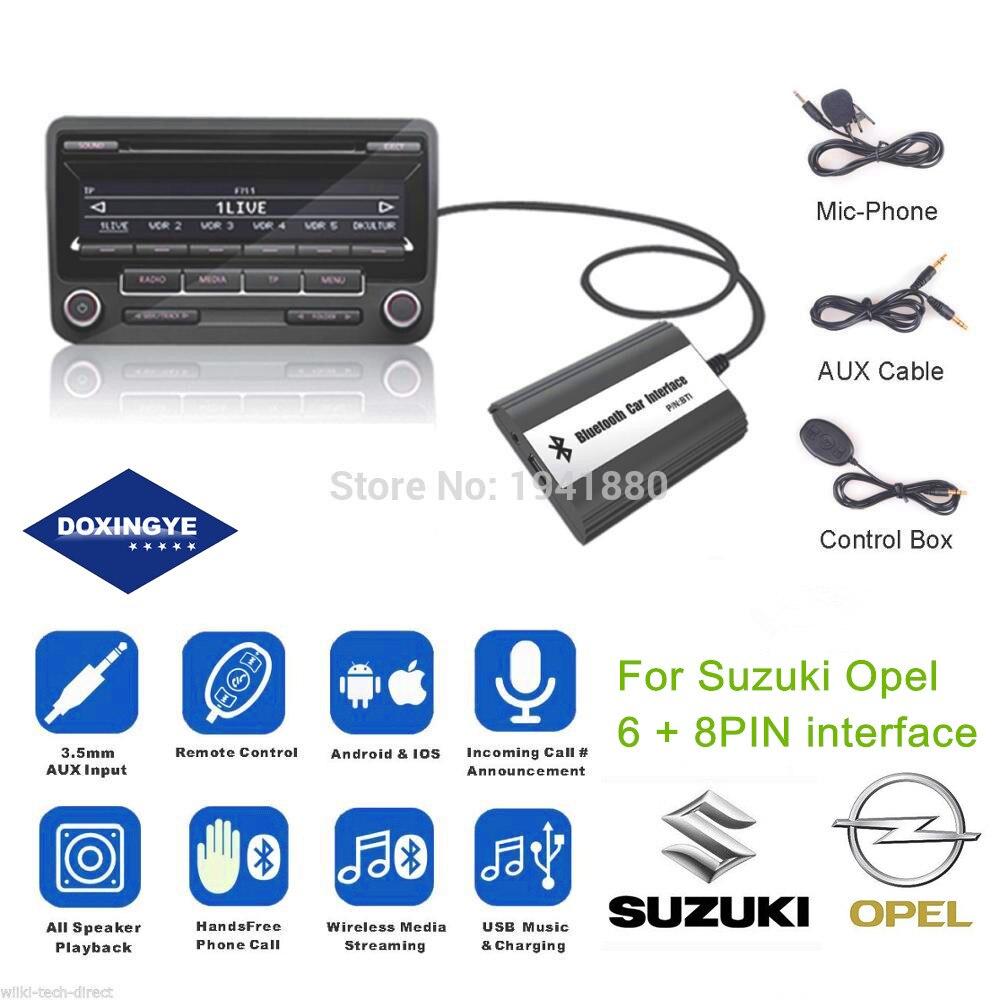 DOXINGYE AUX USB Bluetooth Car MP3 CD Changer Audio Adapter Car Music A2DP Bluetooth Handsfree For Suzuki Swift Grand Vitara