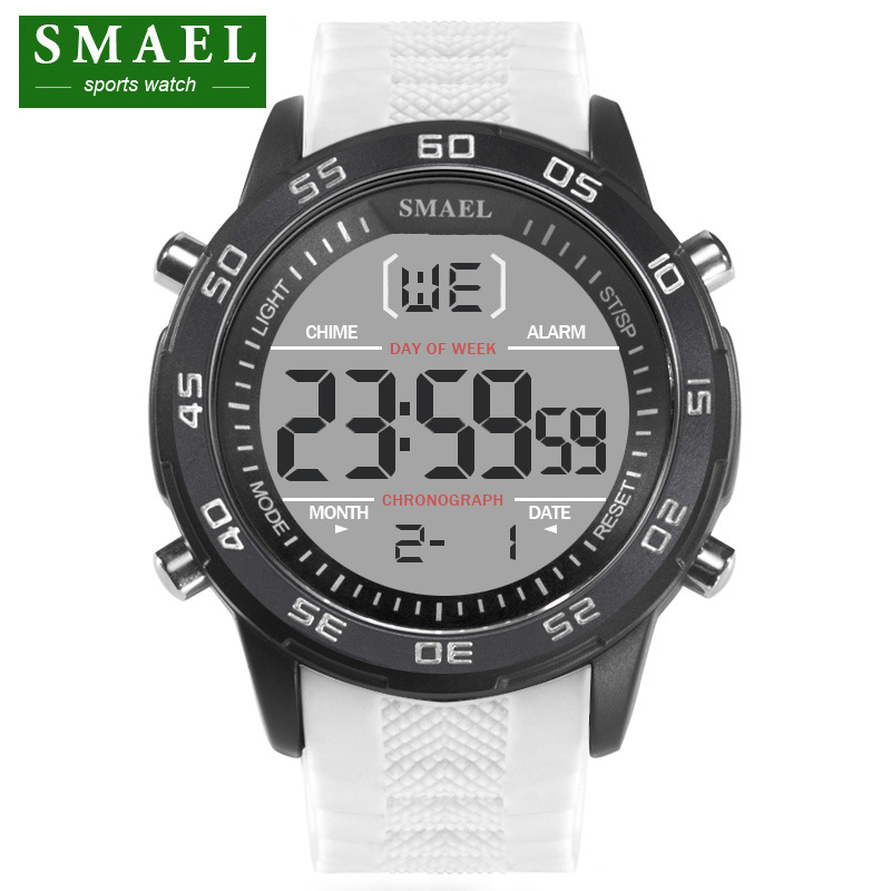 SMAEL Luxury Brand Mens Sports Watches Dive 30m Digital LED Military Watch Men Fashion Casual Electronics Wristwatches Relojes