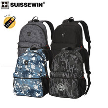 2019 new Swiss SUISSEWIN brand 4 color camouflage Oxford waterproof laptop backpack lightweight wearable casual school bag women