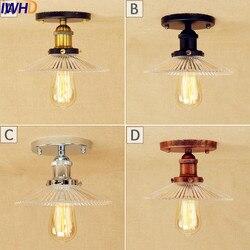 IWHD Retro LED Vintage oprawy oświetlenia sufitowego oświetlenie domu oświetlenie salonu Loft przemysłowe lampy sufitowe Edison Lamparas