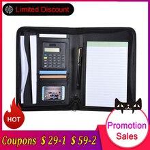 Чехол-книжка из искусственной кожи A5, портативный деловой портфель, чехол для документов, органайзер, органайзер для офиса