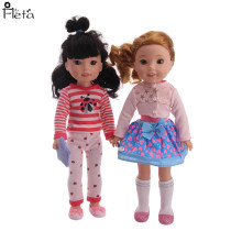 Fleta New Cute clothes+shoes Set box For 14.5 wellie wishers doll accessories best Christmas gift