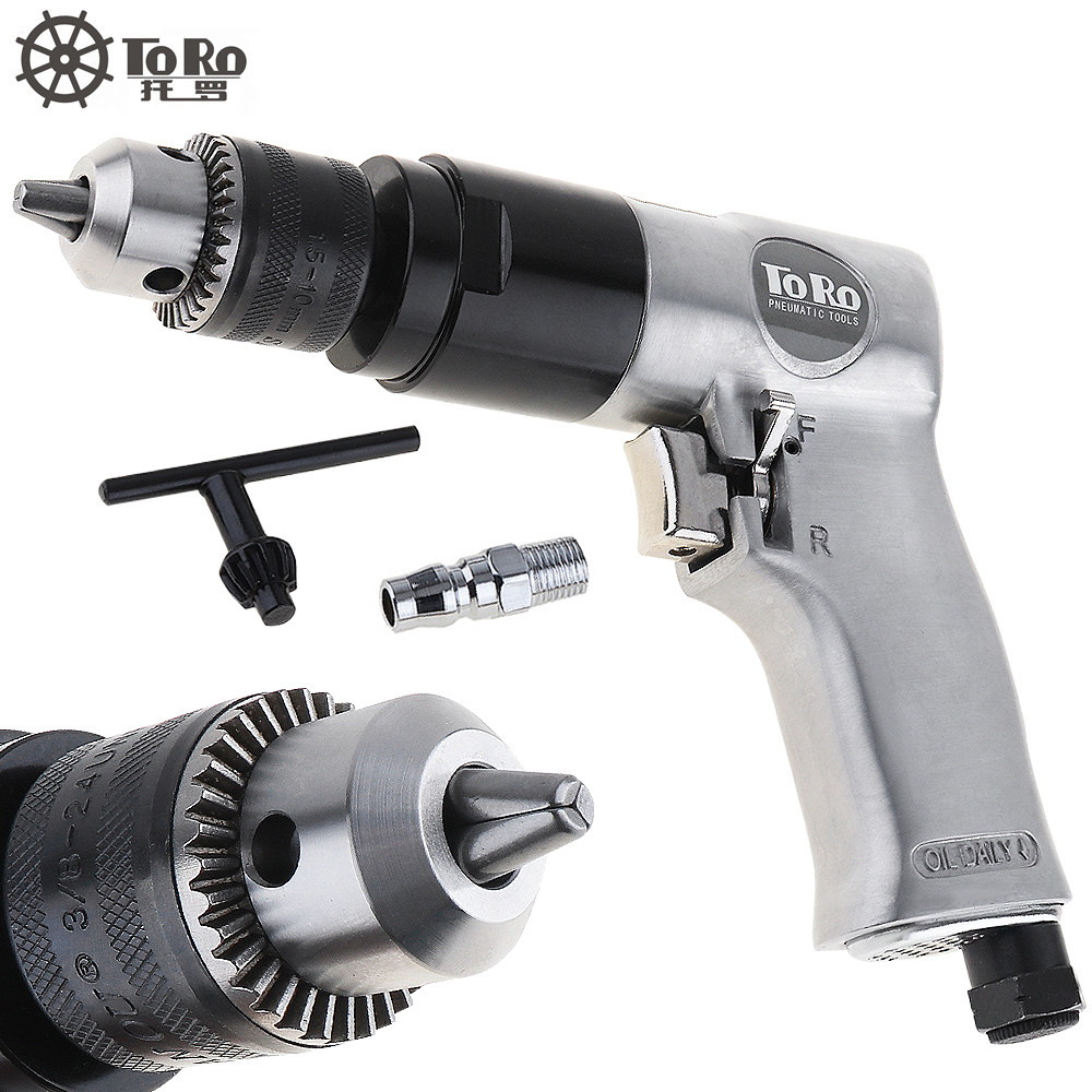 TORO 3 8 1800rpm High speed Cordless Pistol Type Pneumatic Gun Drill Reversible Air Drill Tools