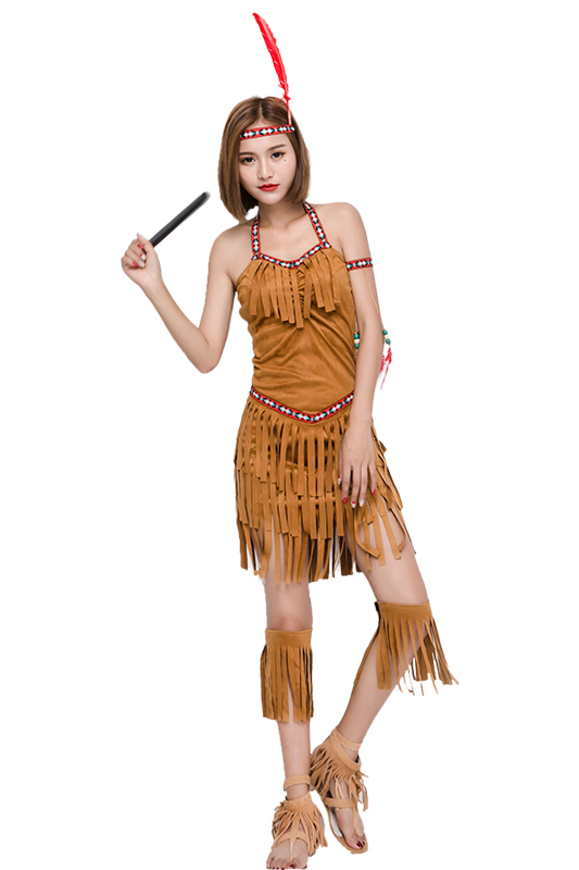 Adult Women Indian Costume Indian Maid Plus Size Costume -2740