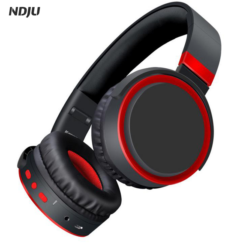 Bluetooth Headphone Bass Wireless Sports Headsets Noise Canceling Over Ear MP3 player earphone with MIC for computer cellphone