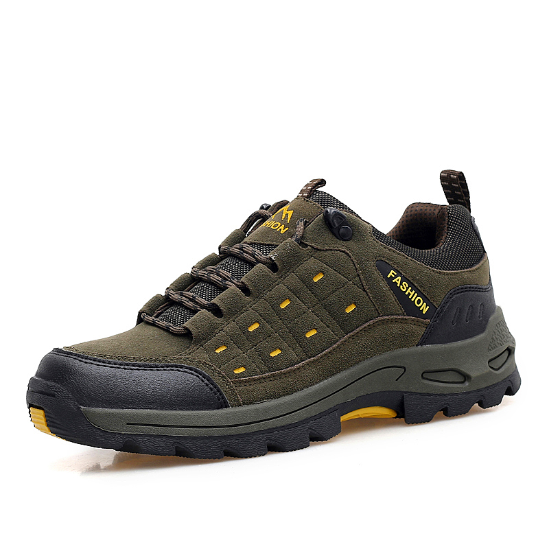 ФОТО Hiking Trekking Boots Men Non-Slip Woman Outdoor Hiking Shoes Spring/Autumn Mountain Shoes Men Gray/Red Woman Shoes Climbing