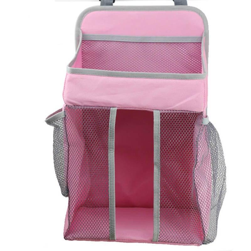 Портативный органайзер для детской кроватки, подвесная сумка для детской кроватки, сумка для хранения пеленок, набор постельного белья, сумки для подгузников - Цвет: pink