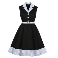 Plus Size Woman Shirt Dress Single Breasted Buttons Robe Pin Up Vintage Rockabilly Short Dress Summer Women Clothes Vestidos