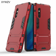 For Vivo X27 Case Armor Phone Bumper Soft Silicone Rubber Hard PC Holder Back Cover ViVO Fundas