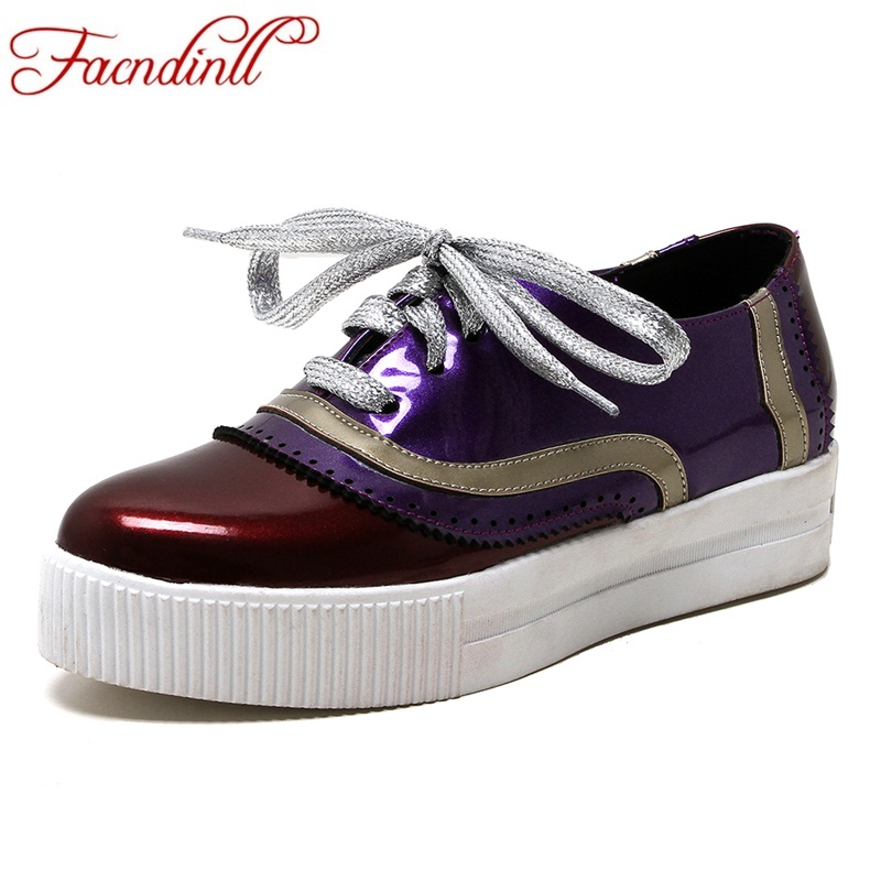Mixte purple Chaussures Cuir Appartements Couleur Sécurité Femmes forme En Grande Mode Plate Printemps Mocassins Facndinll Verni Confortable Taille red Orange Automne Hd7aqx7w