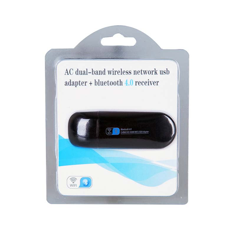 ZAPO Mini 5G WIFI USB Bluetooth 4.0 Lan Adapter 802.11ac Wireless 600 - Peralatan jaringan - Foto 6