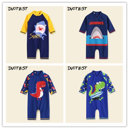 Dvotinst Baby Boys Clothes Animals Swimwear Swimsuit Children Infant Toddler Spa Bathing Beach Summer Swim Suit Clothing Costume