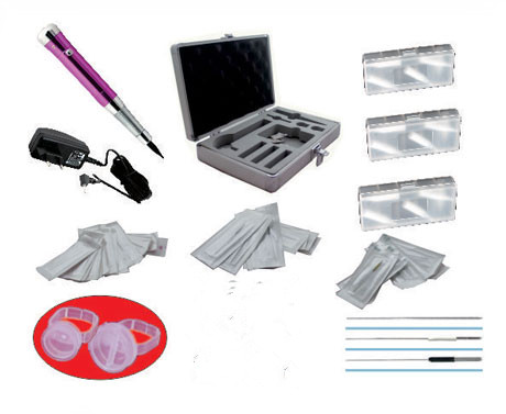 Wholesale eyebrow tattoo permanent makeup kit with needles and tips 35000r import permanent makeup machine best tattoo makeup eyebrow lips machine pen