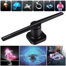 Litake LED Holographische Projektor Tragbare Hologramm Player 3D Holographische Dispaly Fan Einzigartige Hologramm Projektor