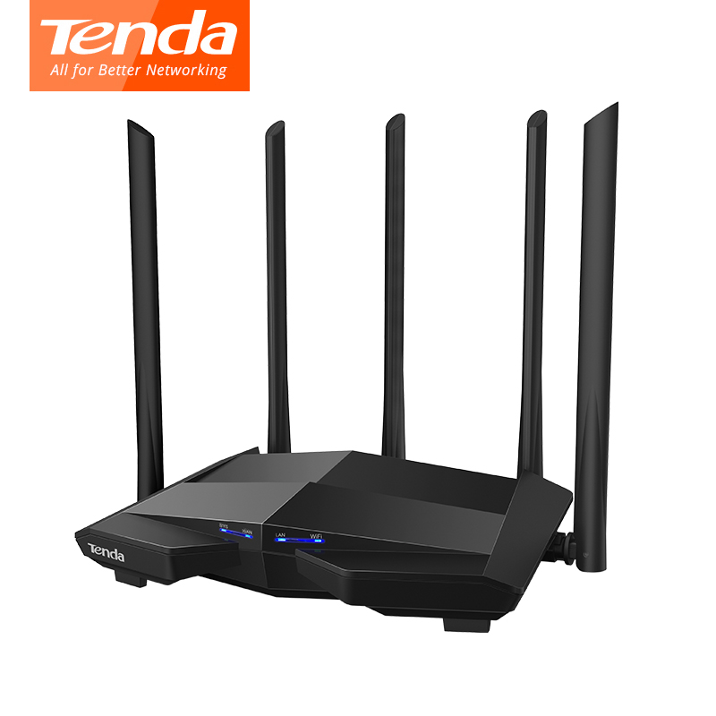 Tenda AC11 1200Mbps Wireless WiFi Router 1WAN+3LAN Gigabit Ports, 5*6dBi High Gain Antennas 1GHz CPU+128M DDR3 Smart APP Manage