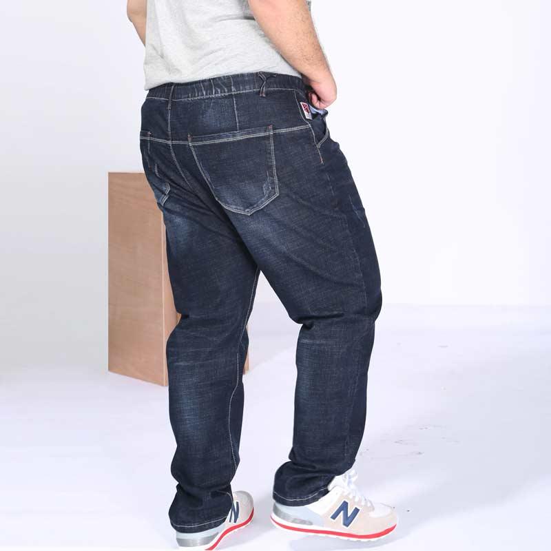 Sales Loose Men's Jeans Professional Plus Size Autumn Winter Clothing Oversize Large Big Denim Pant Trousers #PLS0842 afs jeep autumn jeans mens straight denim trousers loose plus size 42 cowboy jeans male man clothing men casual botton