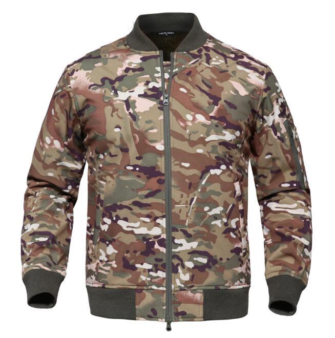 PAVEHAWK hommes hiver sports de plein air randonnée Camping polaire camouflage veste militaire tactique imperméable Ma1 coupe-vent manteau