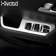 Hivotd For hyundai creta ix25 Chrome Door Window Armrest Switch Button Knob Panel Cover Trim Interior accessories 2017 2018 цена