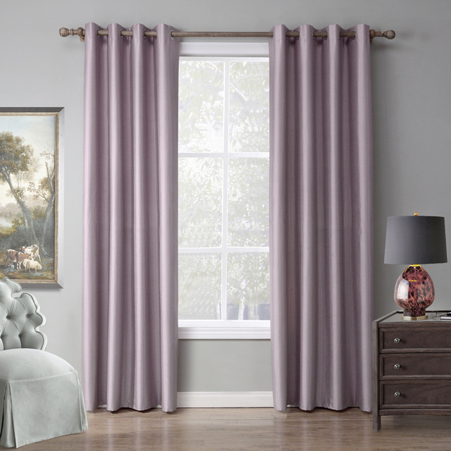 Thicken Blackout Curtains For Living Room Bedroom Fabric Purple Child Window Sheer Luxury