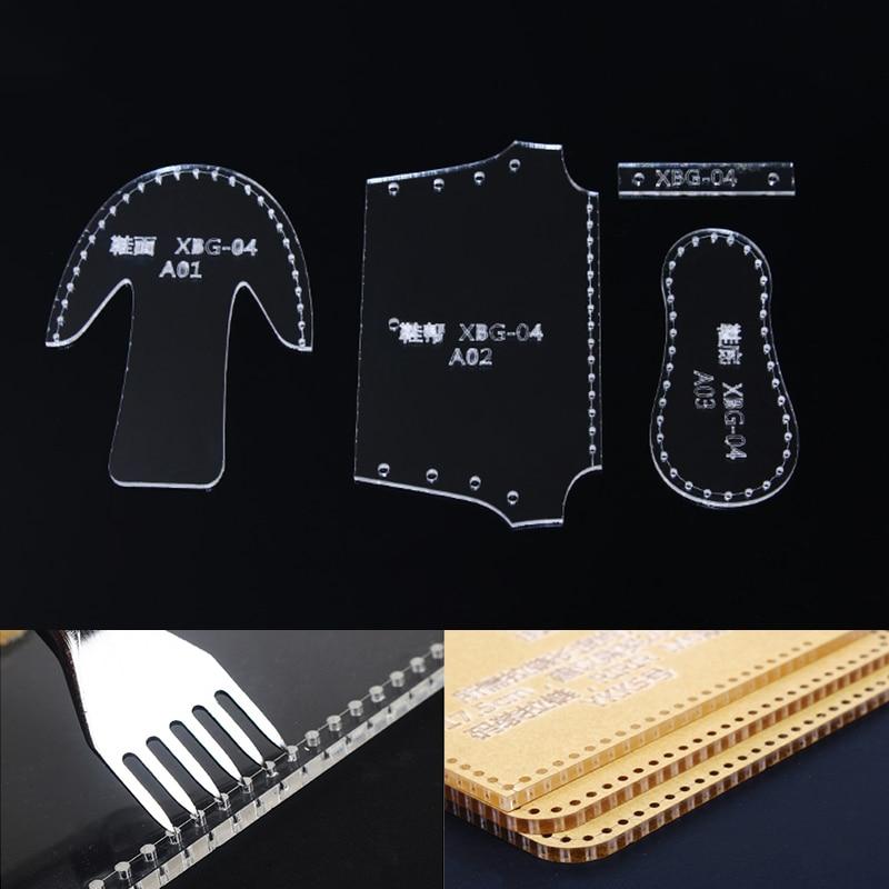 Mini Lighter Bag Holder Acrylic LeatherCraft Pattern Stencil Template 15*4cm