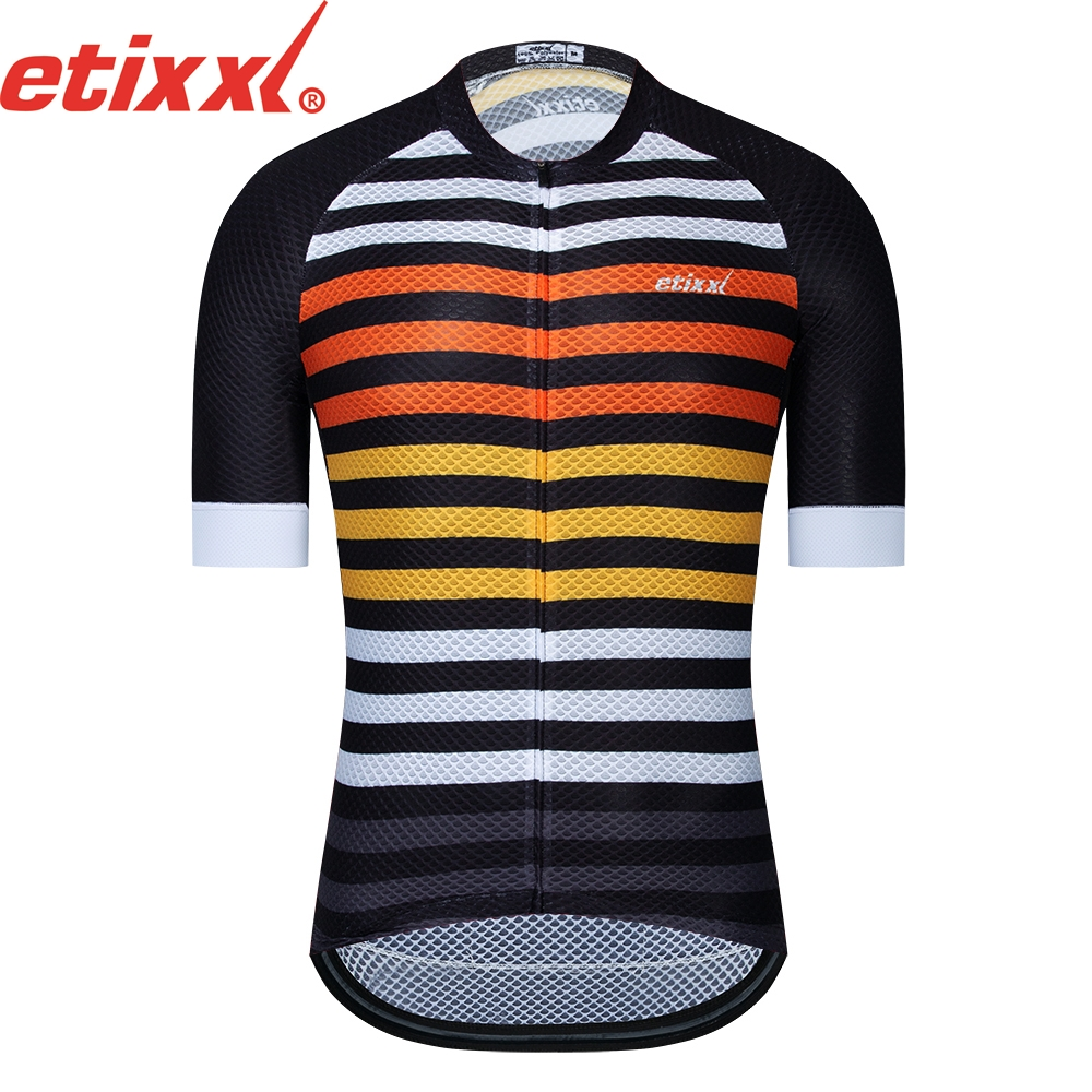 ETIXXL Summer Cycling Jersey Breathale Mountain Bike Clothing Quick-Dry Racing MTB Bicycle Clothes Uniform Cycling Clothing
