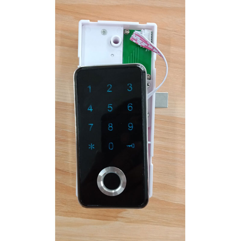 High security office desk locks fingerprint digital keypad lock for cabinet free shipping in Door Locks from Home Improvement