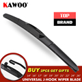 KAWOO Universal J Type Car Wiper Blade 14161718192021222426 Hook Windscreen Windshield Soft Rubber Hybrid Auto Wipers