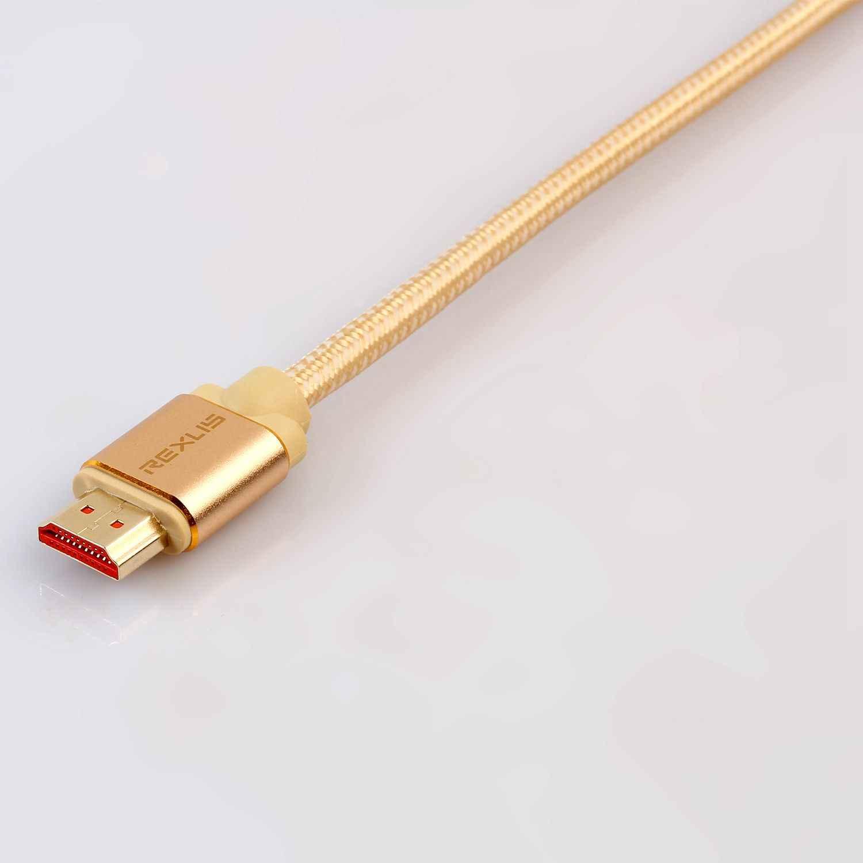 Com as melhores Promoções REXLIS HDMI cabo HDMI para HDMI 2.0 Cabo Interruptor PS4 4 K para Projetor Nintend Caixa de TV Televisão xboxputer