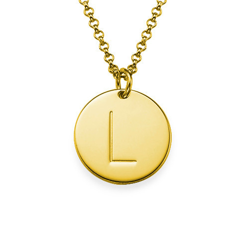 Engraved Single Initial Necklace Custom Gold Disc Pendent Fashion Stamp Jewelry Personalized bore 40mm 275mm stroke ma series stainless steel double action type pneumatic cylinder air cylinder